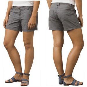 "prana • tess organic cotton shorts 4.5"" inseam"